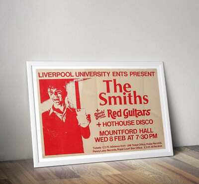 The Smiths Print, Morrissey Gig Poster, The Smiths Poster • 26.99£