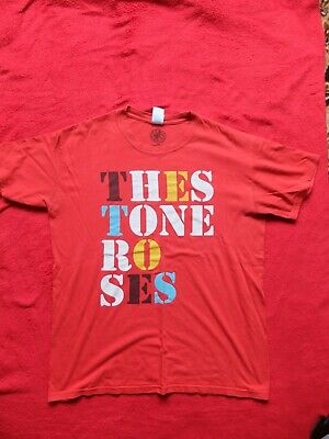 Stone Roses Official Red T Shirt 2011 Size L • 15£