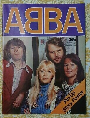 ABBA Pin-Up Story Poster Magazine Fold Out. Excellent Condition - Copyright 1976 • 19.50£
