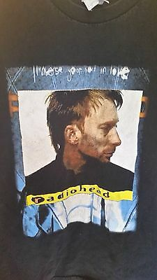 RADIOHEAD 2003 Immerse Yourself In Love Vintage Licensed Concert Tour Shirt LG • 69.64£