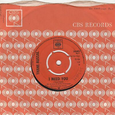 Thane Russal  I Need Evertthing CBS 202403 Soul Northern Motown • 225£
