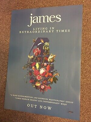 James - Music Promo Poster - Living In Extraordinary Times Album Official Issue • 12.99£