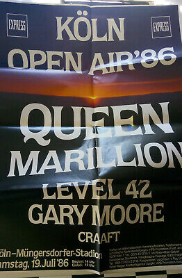 Queen Concert Poster From 1986 Near Mint !  • 39£