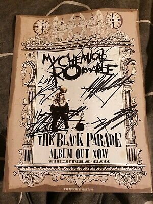 My Chemical Romance The Black Parade Autographed Poster • 1.30£