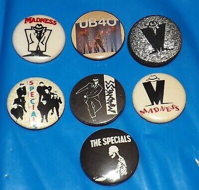 Vintage Lot Badge Pin Madness The Specials Ub40 Ska Reggae Two 2 Tone Old Band • 9.99£