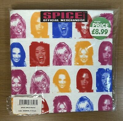 Vintage Spice Girls Official Merchandise T-shirt 11-12yrs Unopened Warhol *Rare* • 79.99£