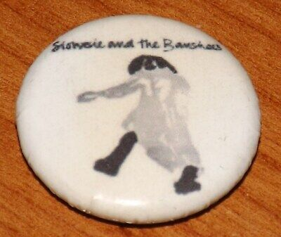 25m BADGE PIN SIOUXSIE AND THE BANSHEES PUNK ROCK BUTTON PINBACK MUSIC OLD BAND • 1.99£