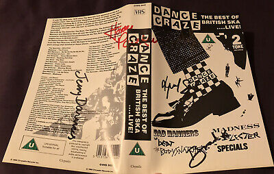 The Specials Dance Craze Two Tone 1988 VHS Tape Signed Autographed By 5 Members • 15£