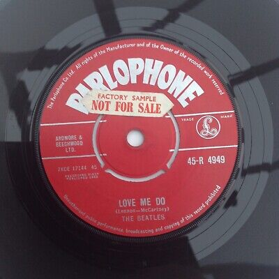 THE BEATLES   LOVE ME DO   1963 UK 1st PRESS 45 R4949 PARLOPHONE RED LABEL EX • 80£