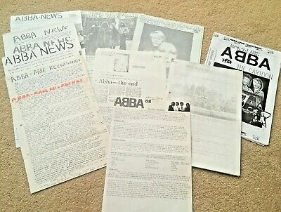 Collection Of Various ABBA Newsletters/fanzines Unofficial And Fan-made • 1£