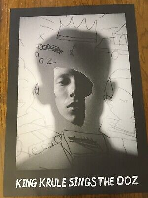 KING KRULE - RARE PROMO MUSIC POSTER - SINGS THE OOZ - OFFICIAL ISSUE - 71x50cm • 12.99£