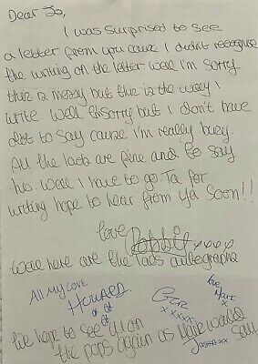 ROBBIE WILLIAMS & TAKE THAT: Unique Early Handwritten Letter By All 5!! Signed • 994.99£