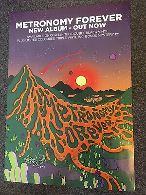 Metronomy - Rare Album Promo Poster - Forever - Official Record Company Issue • 12.99£