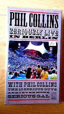 Phil Collins: Seriously Live In Berlin VHS Video Virgin Vision No. VVD 783, 1990 • 3£
