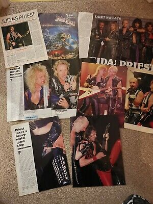 Judas Priest Magazine Clippings Cuttings Posters Articles • 1.50£