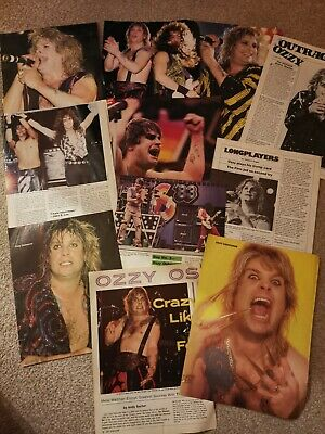Ozzy Osbourne Clippings Cuttings Posters Magazine Articles • 1.75£