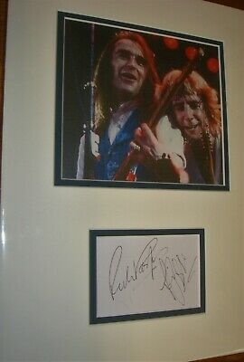 STATUS QUO Super Autographs Of Rossi & Parfitt, Mounted With Photo, With COA • 49.99£
