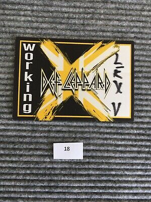 Def Leppard Working Venue Backstage Pass Item #18 • 11.04£