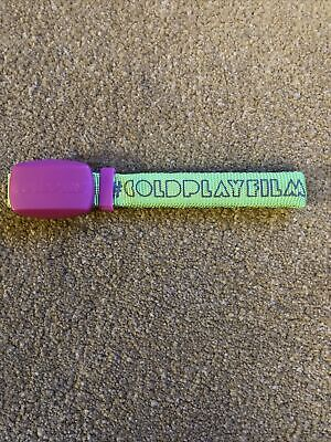 Coldplay Genuine Electronic Flashing  2012 Mylo Xyloto Tour Concert Wristband • 15£