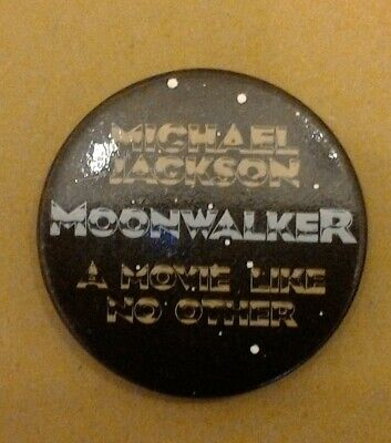 Michael Jackson - 1980's Moonwalker A Move Like No Other 50mm Metal Badge • 10£