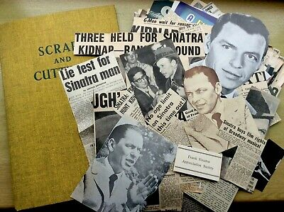 1960s FRANK SINATRA Scrapbook PLUS Lots Of Articles To Add, Partially Completed • 17.95£