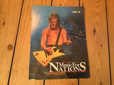 Music For Nations - Rare Brochure - Metallica Anthrax Exodus GBH Agnostic Front • 0.99£