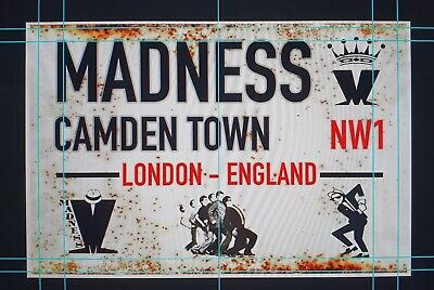"""Madness Camden Town Vintage Style Street Sign 11"""" X 7.5"""" SKA • 12.99£"""