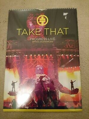 Take That Official Progress Live **sealed** Calendar. RARE • 9.99£