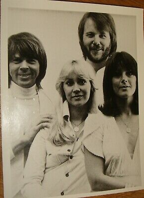 ABBA Press Photo Black & White, V.g.c. • 4.99£