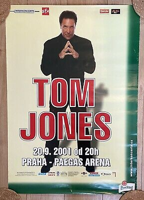 TOM JONES Live In Prague Large Quad Venue Concert Poster Excellent Condition  • 9.95£