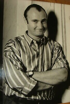 PHIL COLLINS Press Photo Black & White V.g.c. (ii)+  Press Agency Stamps On Back • 9.99£