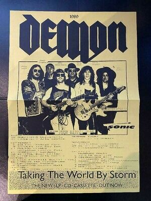 Demon - Taking The World By Storm - Fan Club Poster - 42 X 30 Cm - Vgc • 9.99£