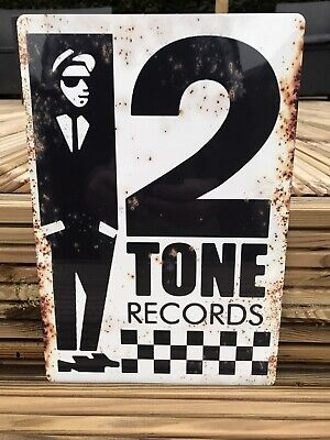 """Two Tone Records Vintage Style Street Sign 11"""" X 7.5"""" SKA • 12.99£"""