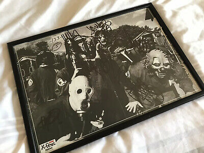 Slipknot Autographed & Framed 1999 UK Kerrang Poster (All 9 Original Members) • 275£
