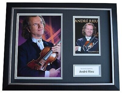 Andre Rieu Signed Framed Autograph 16x12 Photo Display Violin Music COA • 179.99£