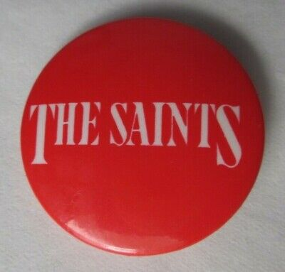 The Saints Red Original Vintage 1970s 25mm Badge Button Pin Punk New Wave   • 9.99£