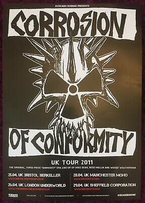 Corrosion Of Conformity UK Tour 2011 Concert Poster Animosity  • 2.95£