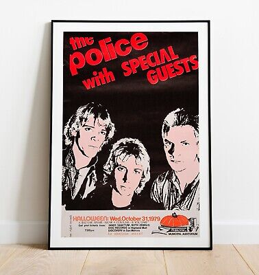 The Police Vintage Concert Poster, Sting Poster, The Police Poster, Wall Art • 26.99£