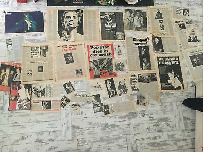 Lot Of Punk Music Paper Cuttings Pages 70's Pistols Clash Damned  • 0.99£