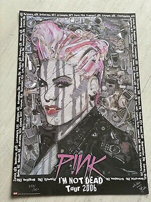 PINK I'M NOT DEAD TOUR 2006 UK Poster Print Art Limited 750 P!NK • 4.10£