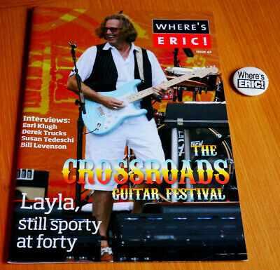 Eric Clapton Where's Eric Magazine Issue 42 (with Some Japanese Text) Plus BADGE • 7.50£
