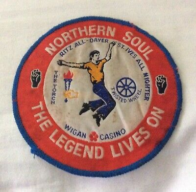 "ORIGINAL~""NORTHERN SOUL PATCH""1970s~Wigan Casino~The Torch Twisted Wheel~GENUINE • 15£"