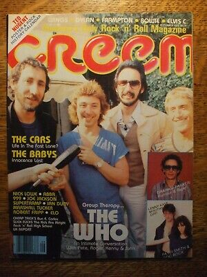 The Who Sept. 1979 CREEM Magazine Cars Babys Lenny Kaye Ted Nugent Mini Poster • 1.42£
