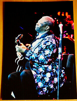 B.B King Original Sole Photo By Late Father Prof Concert/Press Photographer • 6.99£