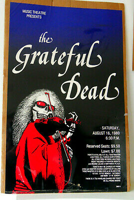 Rare Grateful Dead Original Poster 1980 Music Theatre In Sealed Packaging NEW • 25.45£