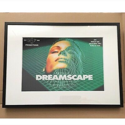 Dreamscape 1 Rave Flyer 1991 Framed Print.. Not Flyer A4 Print In A3 Frame • 19.99£