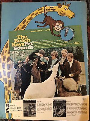 VTG Hit Sounds Of The Beach Boys Song Folio No. 3 & 8 Pages Color Photos 1966 • 11.33£