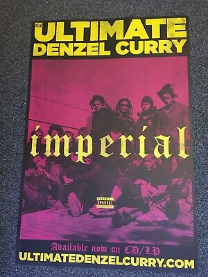 Denzel Curry - Rare Promo Music Poster - Imperial Ultimate Album Official Issue • 19.99£