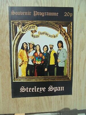 Steeleye Span Now We Are Six Tour Programme • 11.99£