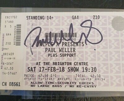 Paul Weller The Jam The Style Council Hand  Signed / Autograph Concert Ticket  • 149£